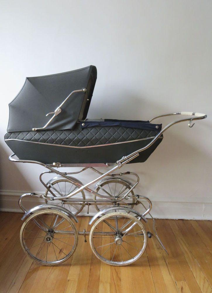 Italian Antique Giuseppe Perego Baby Carriage Stroller
