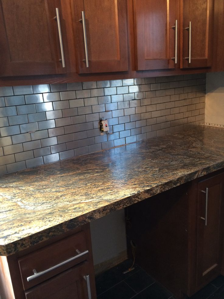 stainless steel subway tile backsplash amazing looking and easy