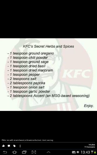 Slimming world kfc fakeaway recipe ingredients list