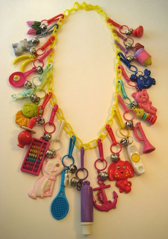 Plastic 80's charm necklace. Loved it!
