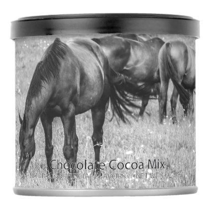 Horse Herd Horses Hot Chocolate Drink Mix - photographer gifts business diy cyo personalize unique