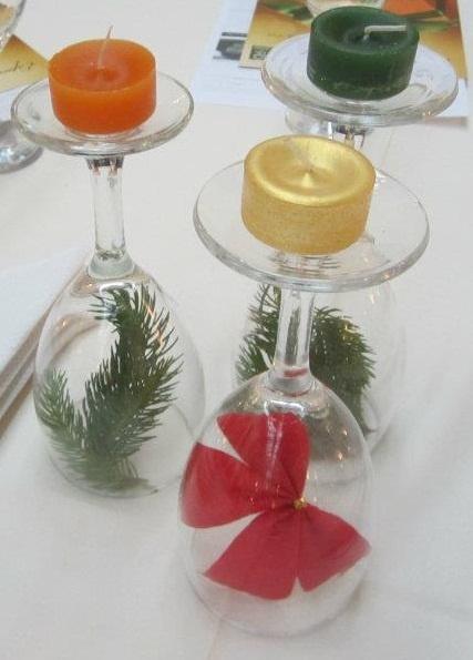 111 mejores im genes sobre centros de mesa en pinterest - Copas decoradas con velas ...