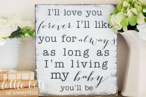 Can't get enough of these signs from @Little Bits of Everything inc. - such sweet messages for the nursery! #walldecor #nursery