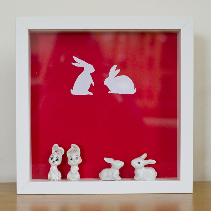 ribba frame + bunnies, made by me :)