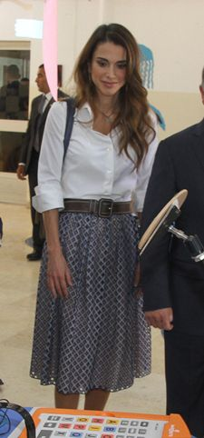 Skirt and crisp, white shirt