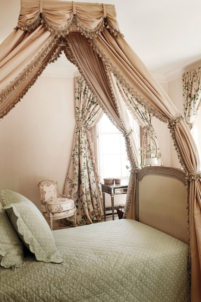 Deeda Blair. In Deedau0027s Bedroom Are Handpainted French Curtains, A Louis XV  Armchair And