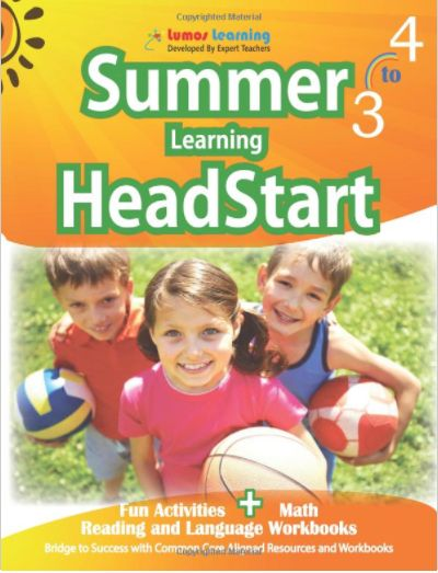 """""""Beat the Summer Learning Loss Lumos HeadStart workbooks will provide fun filled learning activities for your child to overcome the academic slump most students face during summer."""""""