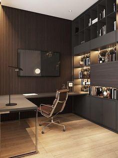 home office design Old Podol apartment - Dezign Ark (Beta) Modern Home Offices, Small Home Offices, Modern Office Design, Office Interior Design, Office Interiors, Small House Interior Design, Workplace Design, Contemporary Office, Office Designs