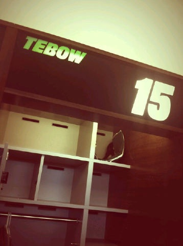 Tim Tebow's locker at Jets' training facilityTim Tebow Th, Tebow Th Man, Tebow Lockers, Tebow Fire, Richard Tebow, Tebow Time
