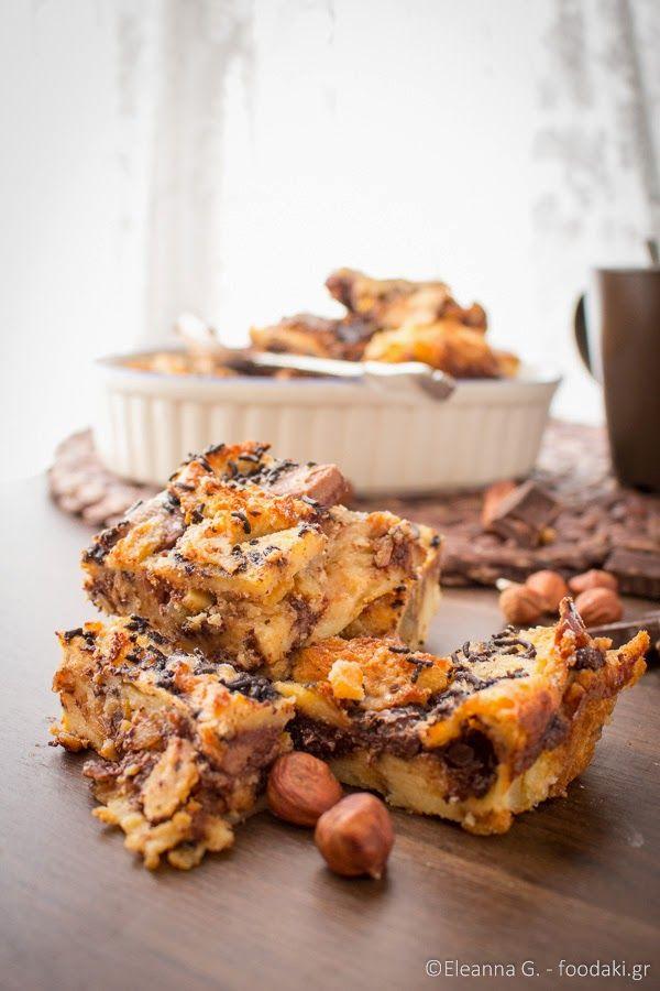 Πουτίγκα με τσουρέκι και σοκολάτα – Brioche and chocolate pudding