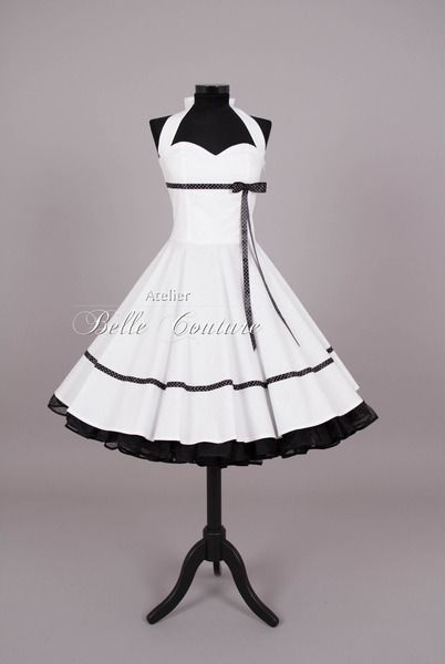 """Petticoatkleider - Brautkleid im 50er Stil """"Johanna"""" - ein Designerstück von atelier-belle-couture bei DaWanda"""