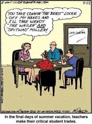 Oh the final days of summer. Teacher humor. Teacher jokes.