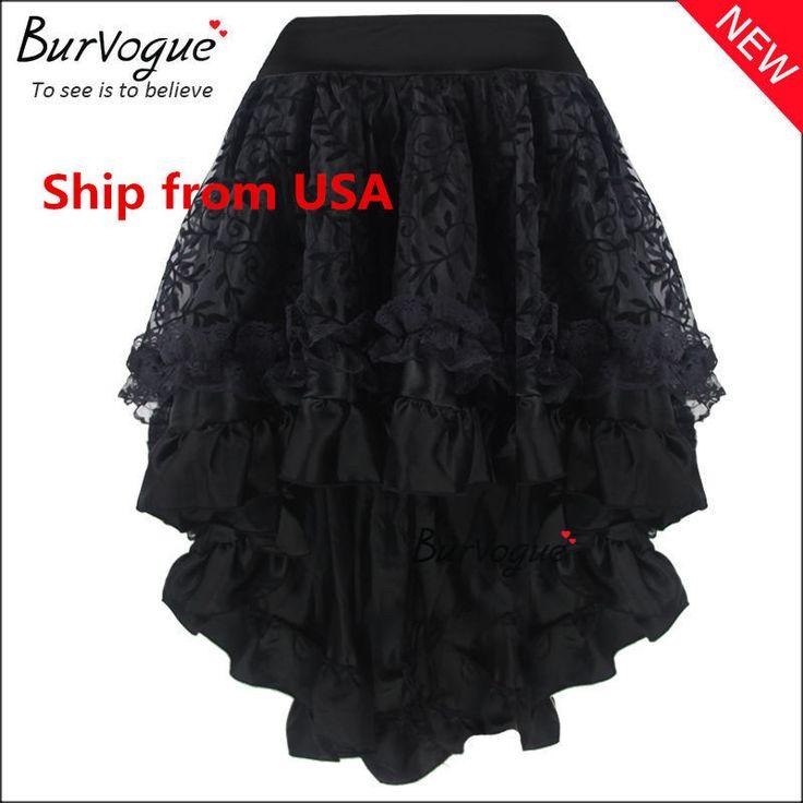 As Mulheres Vintage Multi Saia em camadas de chiffon azáfama saias Saia Espartilho Steampunk