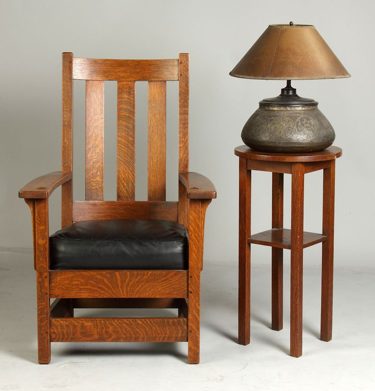 Limbert's Arts Crafts Furniture | Limbert's Chair, Lamp & Stand