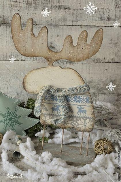 Лось новогодний - лось,новый год 2015,Новый Год,подарок на новый год,рождество