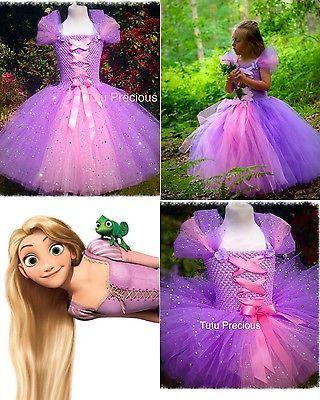 Disney Inspired Tangled, Princess Rapunzel Tutu Dress - Dressing up / Costume