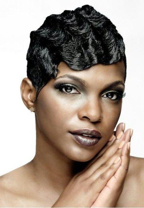 finger waves on short african american hair - Google ...