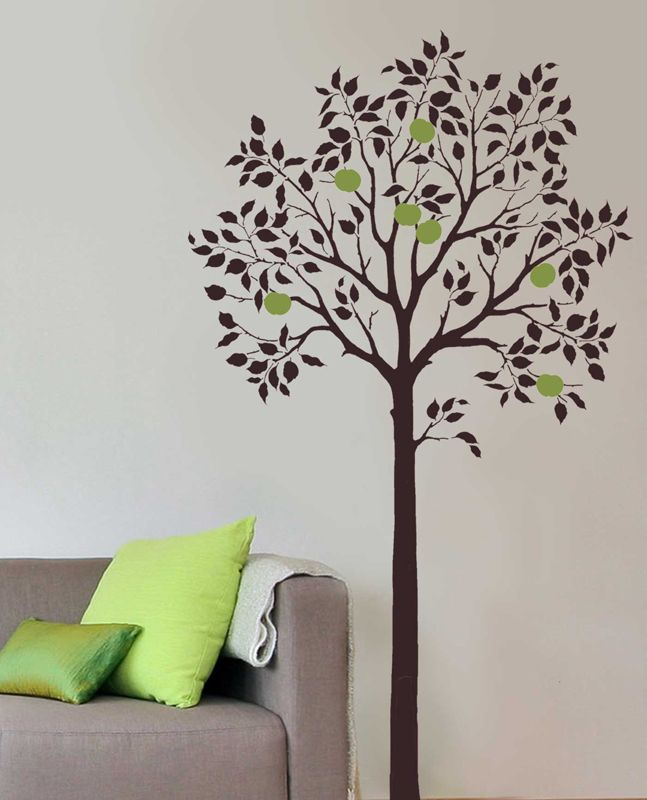 Large Fruit Tree Stencil