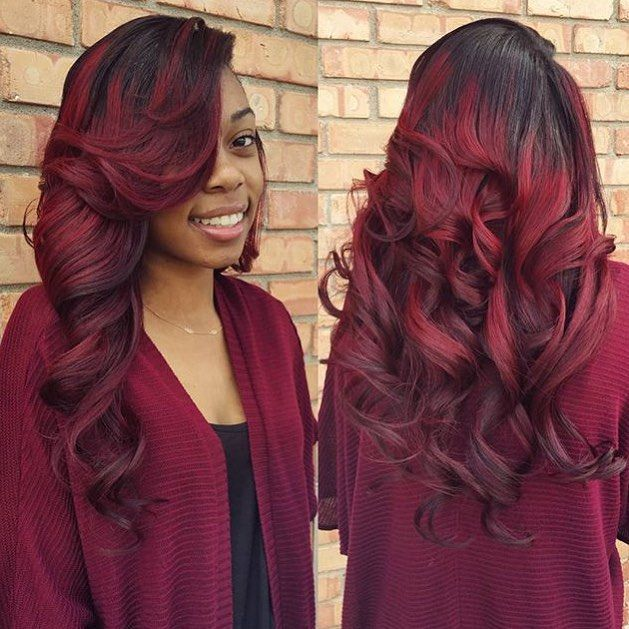 350 best red hair images on pinterest hair laid burgundy hair stylist feature love this haircolor on this sewin styled by lansingmi stylist pmusecretfo Images