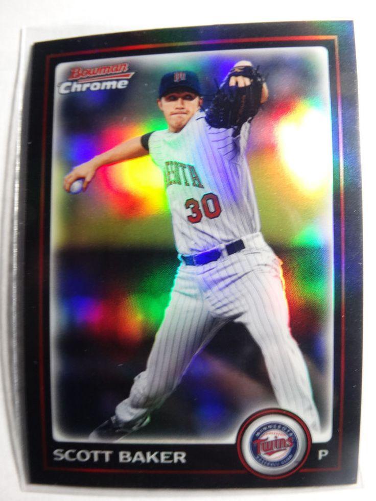 2010 Bowman Chrome #148 Scott Baker Minnesota Twins Refractor Baseball Card #BowmanChrome #MinnesotaTwins