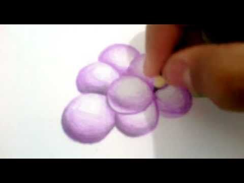 desenho de cacho de uva