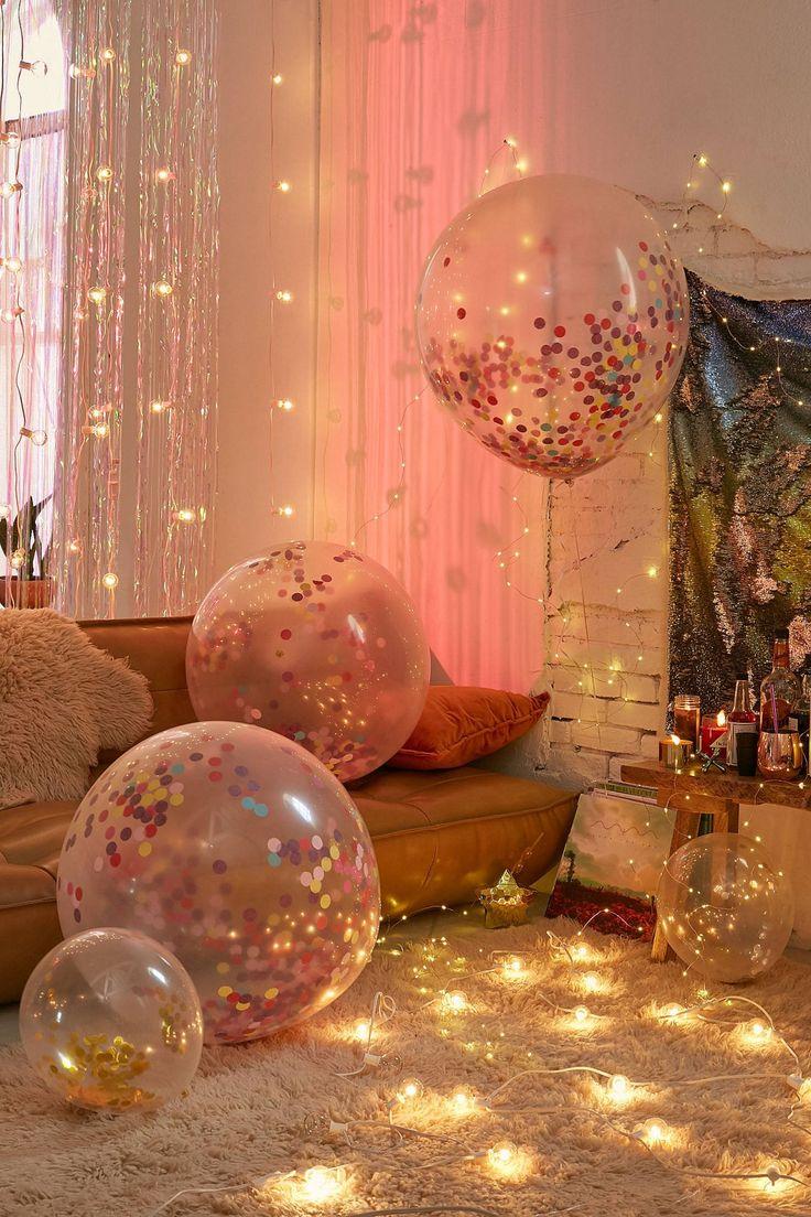Ginger Ray Jumbo Rainbow Confetti Balloon Set   Urban Outfitters