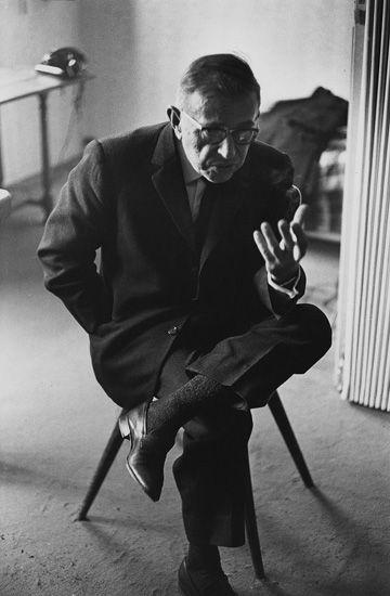 Jean-Paul Sartre,1964 by Marc Riboud