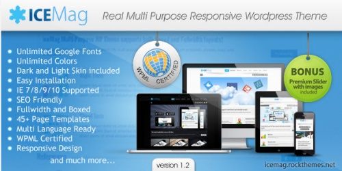 iceMag v1.2 Multi Purpose Responsive Theme » Nulled Scripts, php, WSOs - NulledShare.com