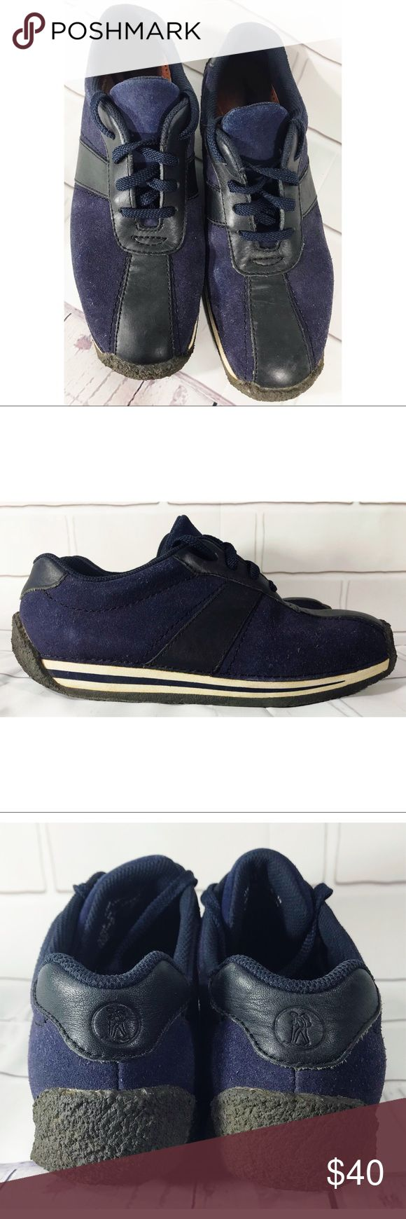 Clarks Originals Suede Leather Lace Oxford Shoes Clarks Originals Suede Leather Athletic Sport Lace Up Oxford Shoes Blue Size 9.5 M. Pre owned in great used condition. Clarks Shoes Oxfords & Derbys