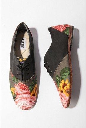 UrbanOutfitters.com > Osborn Floral Oxford Shoe - StyleSays