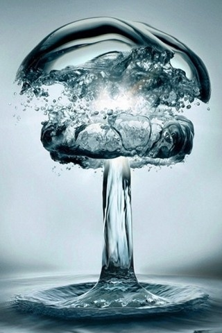 H2O BombWater Bombs, Explo, Photos Manipulation, Mothers Earth, Desktop Wallpapers, Visual Art, Deep Blue, Water Droplets, Mushrooms
