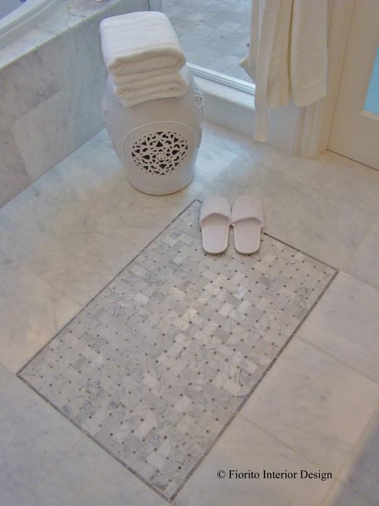 Remodel Tile Inlay Idea. Tile Bathroom FloorsBathroom ...