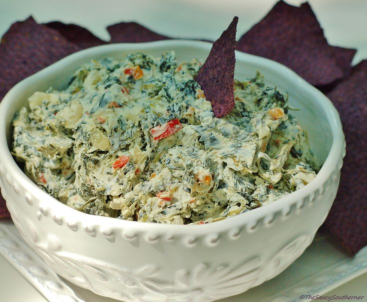 Creamy Spinach Dip recipe, cold warm or hot spinach dip, The Saucy Southerner, easy recipe