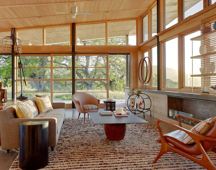 Merging the outdoors with indoors is a trademark of mid-century design  - Mid-Century Modern Style