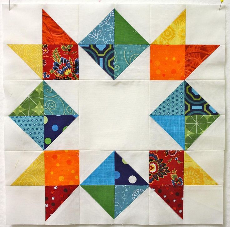 "If you used 10 inch squares it would be about 58"" square. Name: 'Quilting : Inverted Star Tutorial"