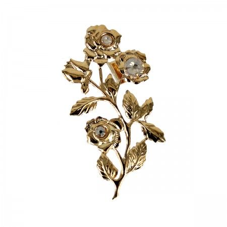 Lacrom Store || Claudia Baldazzi, Accessories, Ermes Ear Cuff  Ear cuffs in golden (24kt) brass, golden shadow Swarovski elements, silver back-welded pins and ear hooks.