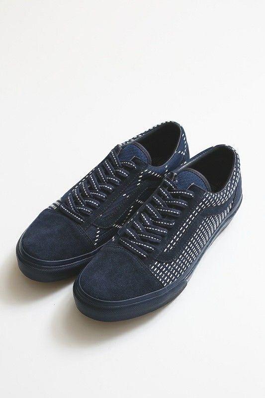 a6d42eda74a6a7 NEW Vans Slip On x FDMTL Classic Old Skool patchwork fog japan tokyo navy  denim (eBay Link)