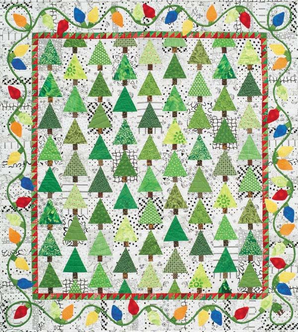 Holiday Lights: Quilt Ideas, Holiday Quilt, Holiday Lights, Christmas Lights, Christmas Quilt, Alex Anderson, Anderson Quilt, Quilt Pattern, Alex O'Loughlin