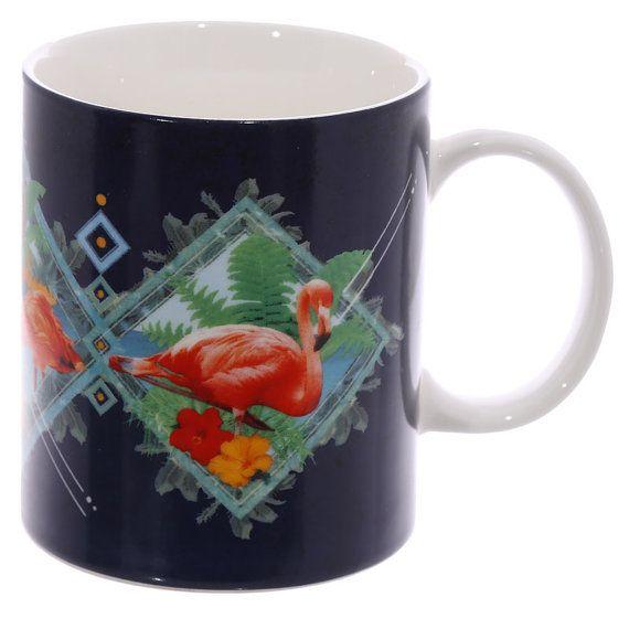 Fun New Bone China Mug Flamingo Design Drinkware by getgiftideas