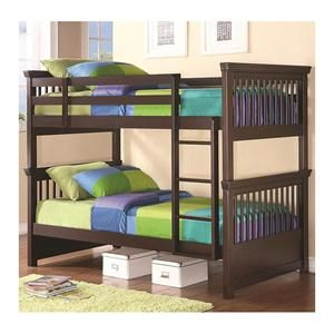 Oliver Twin over Twin Bunk Bed in Cappuccino | Nebraska Furniture Mart