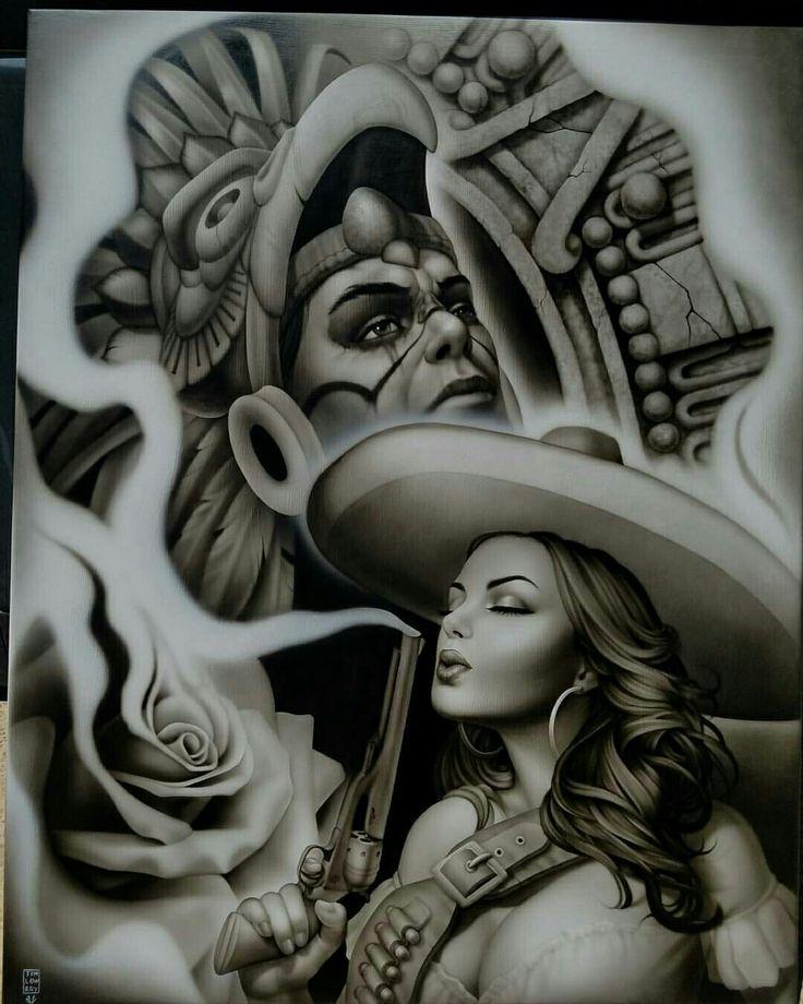 Pin by Chris Esquibel on chicana | Cholo art, Aztec art ...
