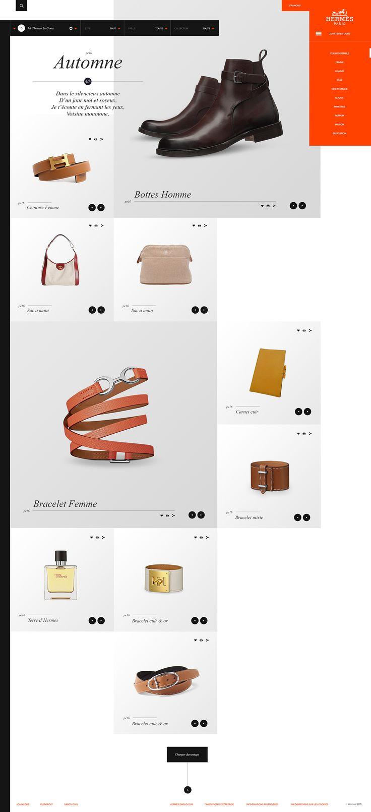 Web   Hermès Concept on Behance