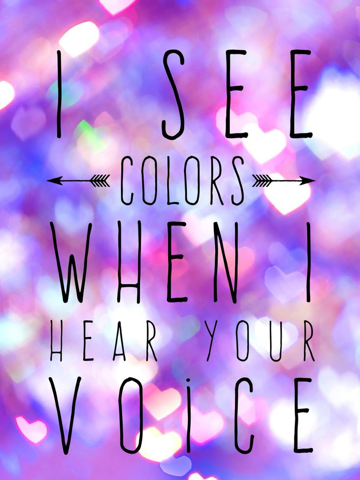 I see colors when I hear your voice -Andrew McMahon