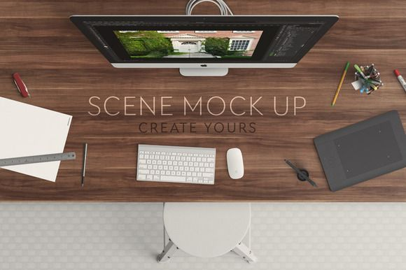 Scene mock up by Qeaql on Creative Market