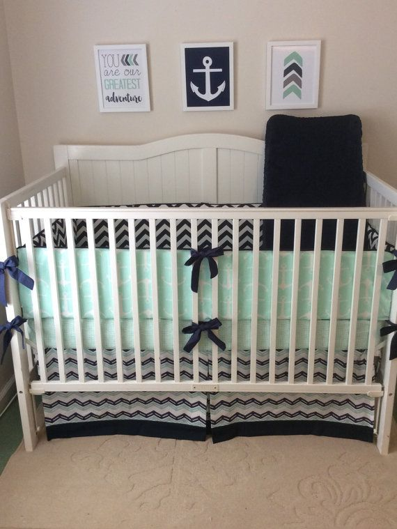 35 Best Images About Navy Mint And White Nursery Ideas On Pinterest Anchors Mint