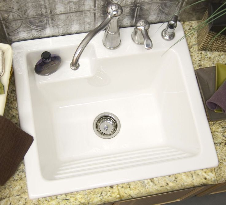 corstone industries advantage series westerly laundry sink with washboard - Laundry Tubs