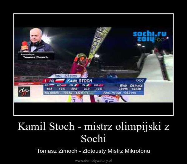 Kamil Stoch - mistrz olimpijski z Sochi