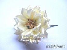 Шикарные цветы из лент от Suzana Mustafa. Идеи и МК