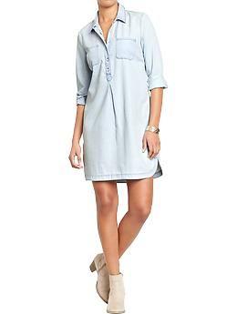 Womens Chambray Shirt Dress, Old Navy.