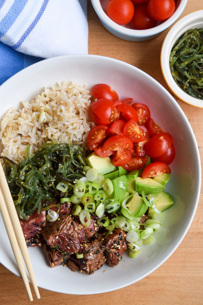 Seared Steak Poké Bowls